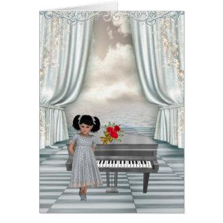 Piano Recital Congratuations for young girl Greeting Card