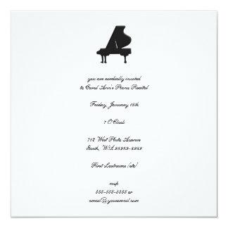 Piano Recital 5.25x5.25 Square Paper Invitation Card