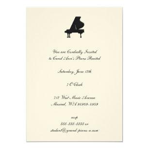 piano recital invitations zazzle