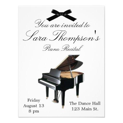 Piano Recital Invitation Template were Nice Style To Create Best Invitation Template