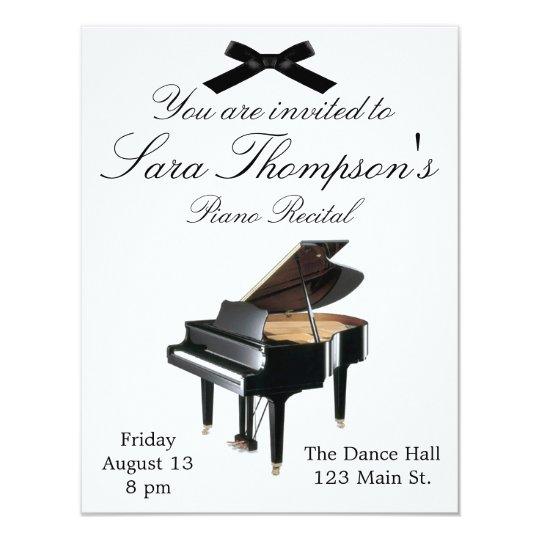 Piano Recital Invitation Zazzle Com