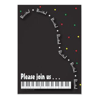 """Piano Recital Invitation 5"""" X 7"""" Invitation Card"""