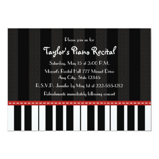 Piano Recital Invitations Invites