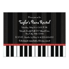 Piano Recital Invitations Invites at Zazzle