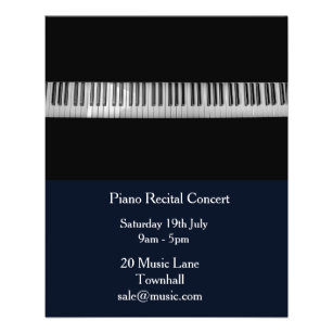 Piano Recital Music Performance Flyer