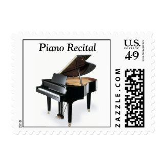 Piano Recital Postage Stamp