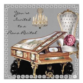 Piano Recital Vintage Style Custom Invite