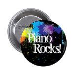 ¡Piano, rocas! Pin Redondo 5 Cm
