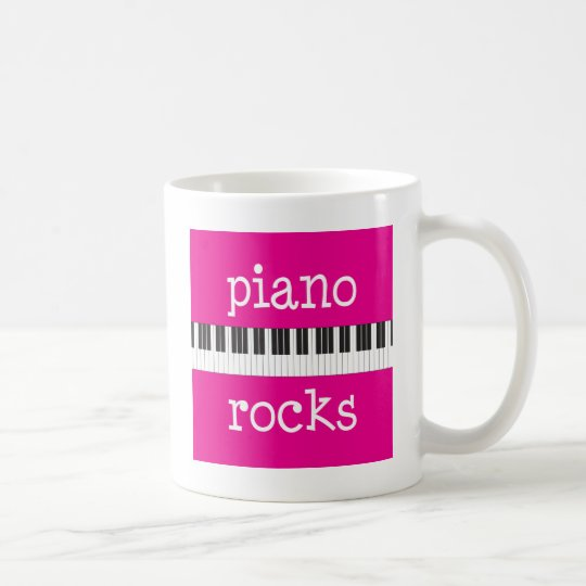 Piano Rocks Pianist Gift Coffee Mug