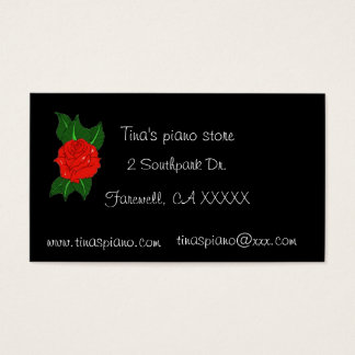 Piano rose Business Card