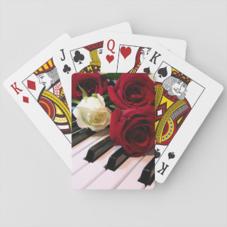 Piano & Roses Playing Cards