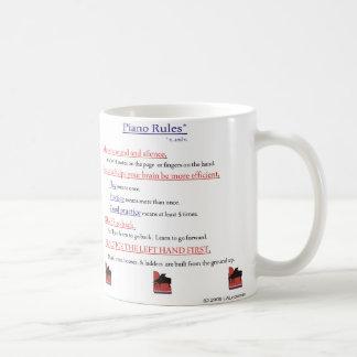 Piano Rules Coffee Mug