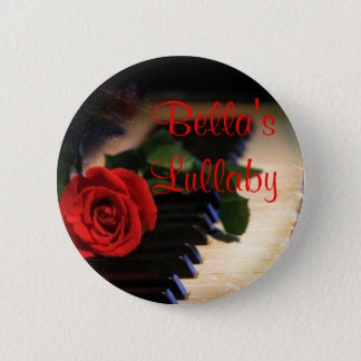 piano, 's Lullaby Pinback Button
