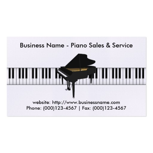 Piano Sales Business Card: Piano 3D Model