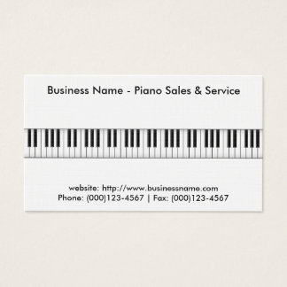 Piano Sales Business Card: Piano 3D Model Business Card