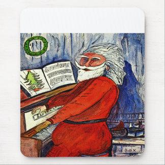 Piano Santa Mousepad