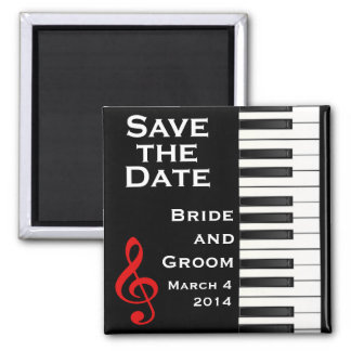 Piano Save the Date Magnet