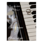 Piano - Save the Date postcard