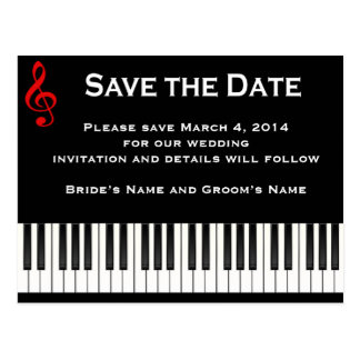 Piano Save the date Postcard