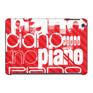 Piano; Scarlet Red Stripes iPad Mini Retina Case