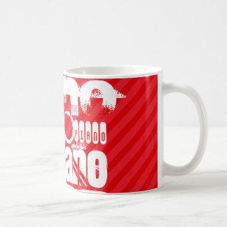 Piano; Scarlet Red Stripes Classic White Coffee Mug