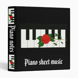 Piano sheet music Avery Binder