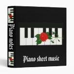 Piano sheet music Avery Binder Vinyl Binders