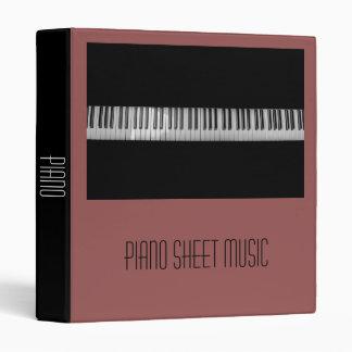 Piano Sheet Music student folder portfolio Vinyl Binders