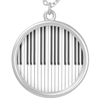 Piano Silver Plated Necklace