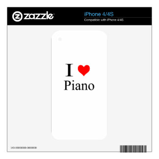 piano skin for the iPhone 4