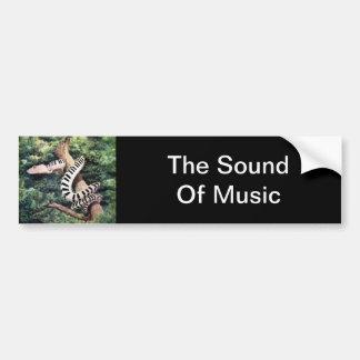 Piano Snake Bumper Sticker