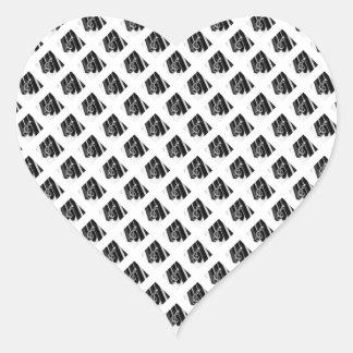 Piano square gclef heart sticker