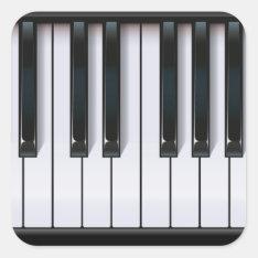 Piano Square Sticker at Zazzle