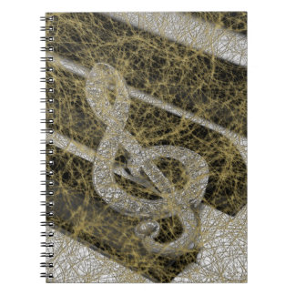 Piano Staff Gclef Spiral Notebook