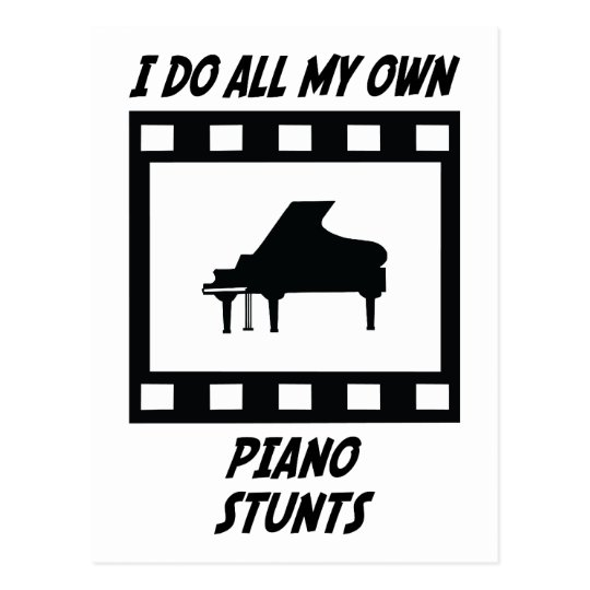 Piano Stunts Postcard