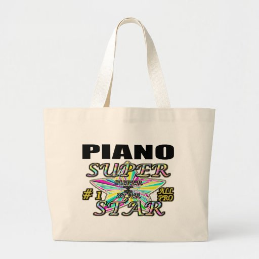 Piano Superstar Canvas Bags