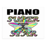 Piano Superstar Post Cards