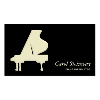 Piano Plantilla De Tarjeta De Negocio