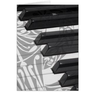 Piano Tattoo Card