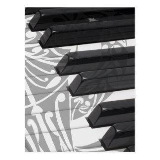 Piano Tattoo Postcard