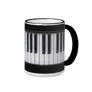 Piano Taza A Dos Colores