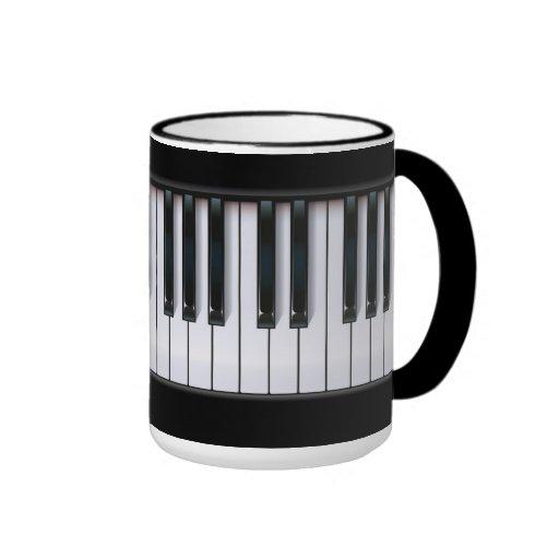 Piano Taza De Dos Colores