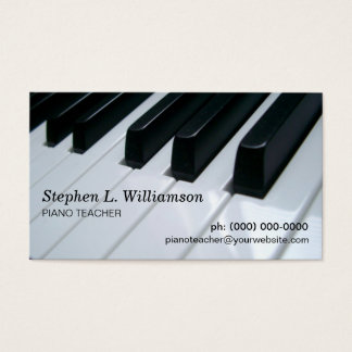 Piano Teacher Business Card