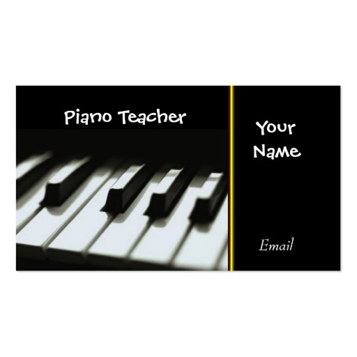 Pianist Business Cards Page2 BizCardStudio