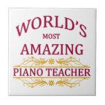 Piano Teacher Ceramic Tile