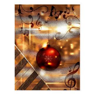 piano teacher Christmas PostCards