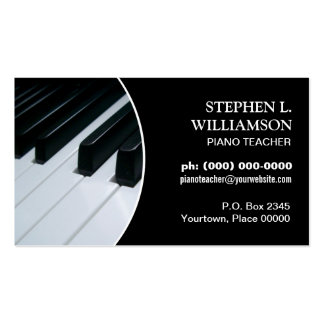 Piano Teacher Frame Business Cards