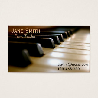 Piano Teacher freelance music tutor professional Business Card