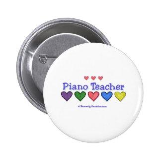 Piano Teacher GH 2 Inch Round Button