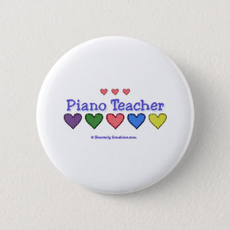 Piano Teacher GH Pinback Button